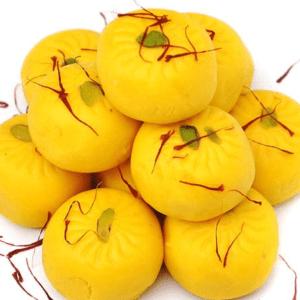 Kesar pista peda - Abi Sweets and pastries